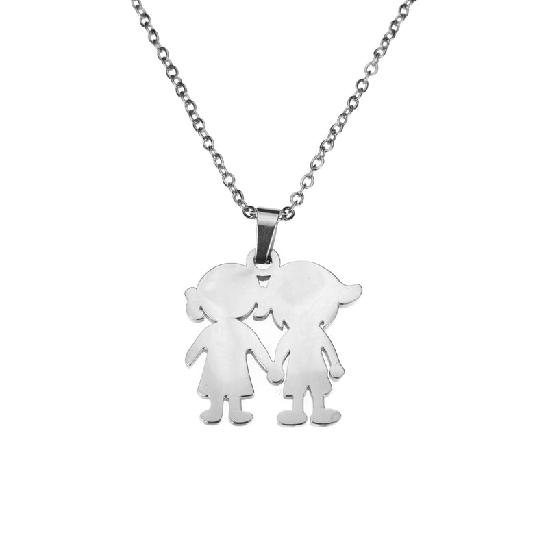Beautiful Charming Friendship Love Solid White Gold Necklace By Jewelry Lane