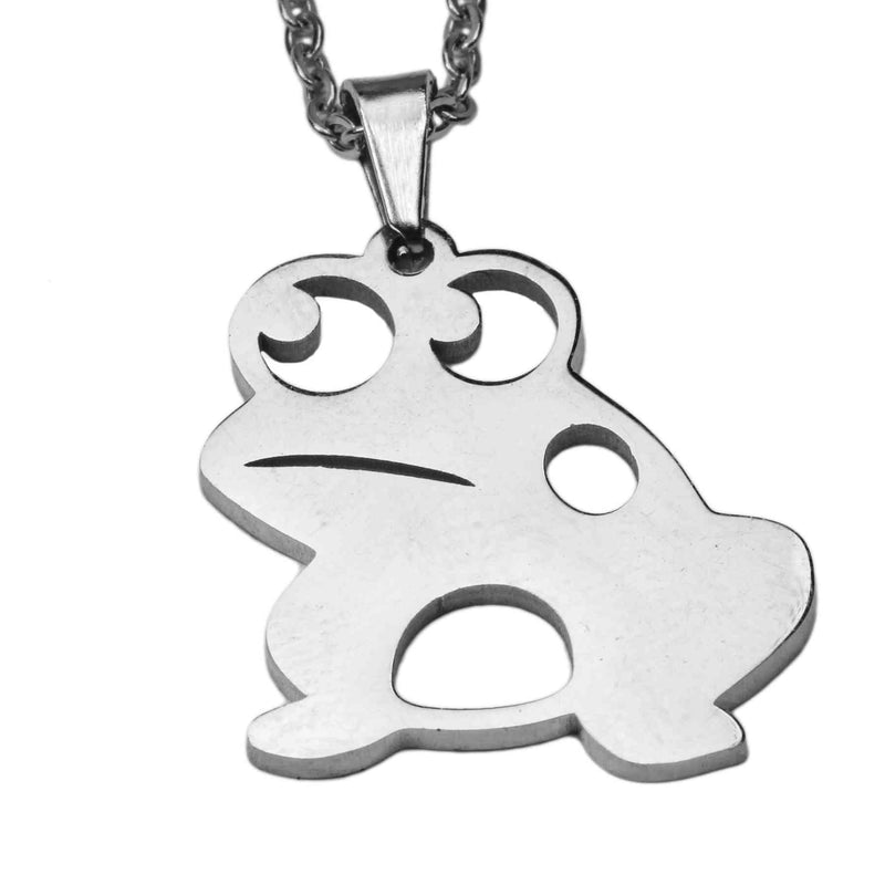 Beautiful Frog Prince Solid White Gold Pendant by Jewelry Lane