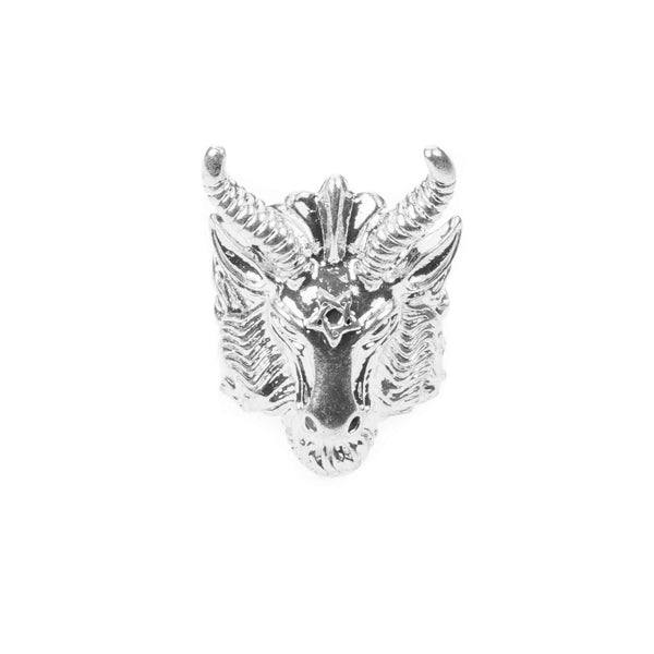 Minotaur Solid White Gold Ring By Jewelry Lane