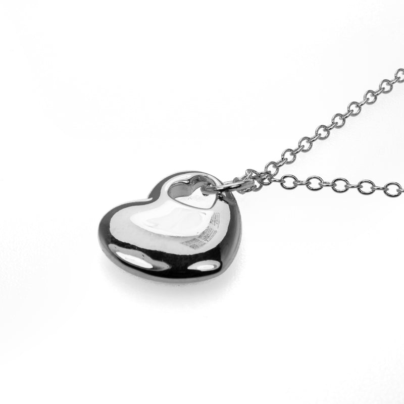 Beautiful Charming Heart Shaped Solid White Gold Pendant By Jewelry Lane