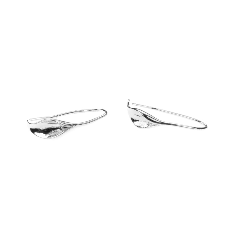 Beautiful Designer Evergreen Hoop Solid White Gold Earrings By Jewelry Lane