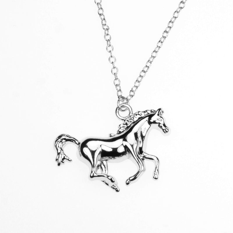 Elegant Beautiful Horse Design Solid White Gold Pendant By Jewelry Lane