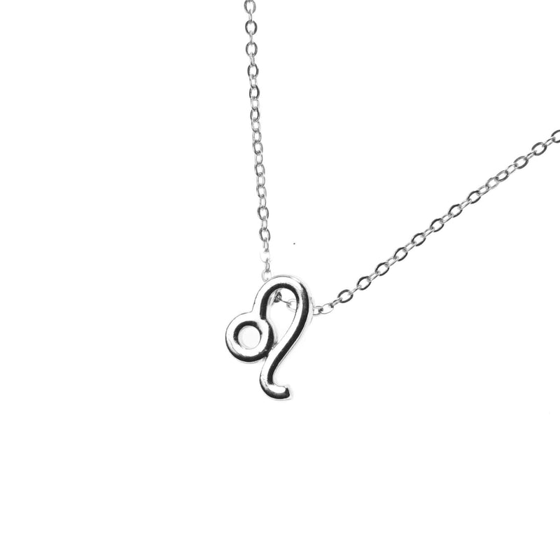 Beautiful Design Zodiac Chic Leo Solid White Gold Pendant By Jewelry Lane