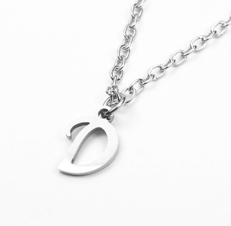 Beautiful Polished Letter R Solid White Gold Pendant By Jewelry Lane