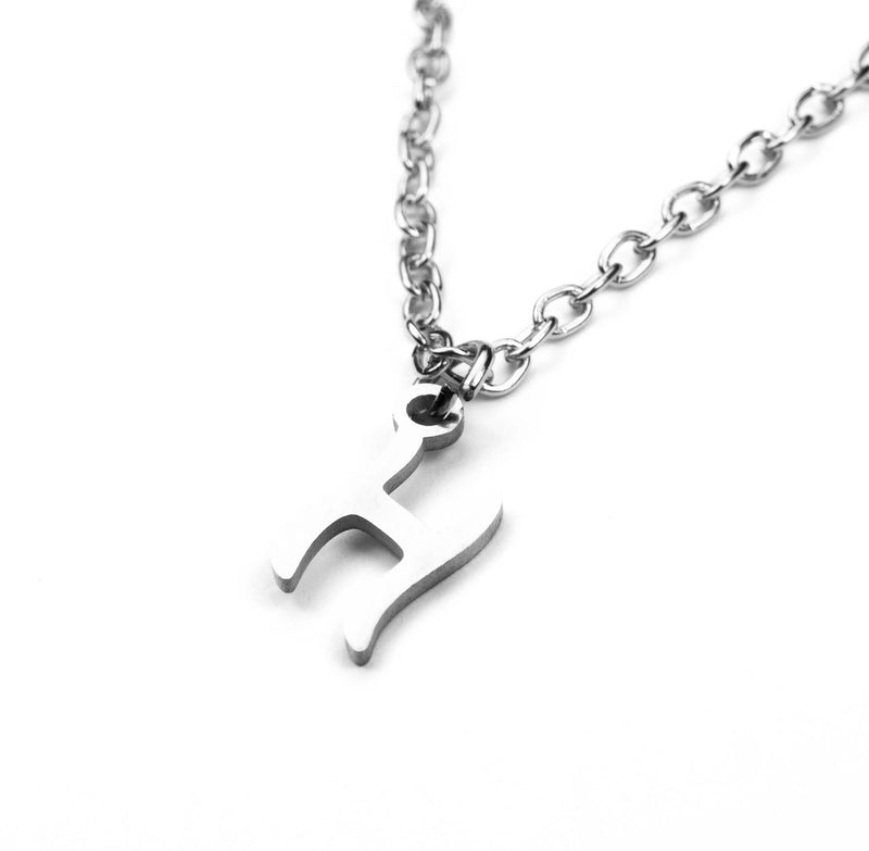 Beautiful Polished Letter H Solid White Gold Pendant By Jewelry Lane