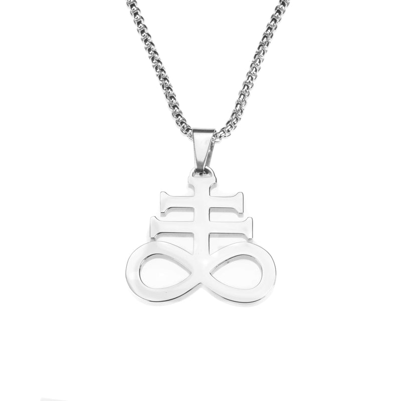 Beautiful Unique Leviathan Cross Solid White Gold Pendant By Jewelry Lane