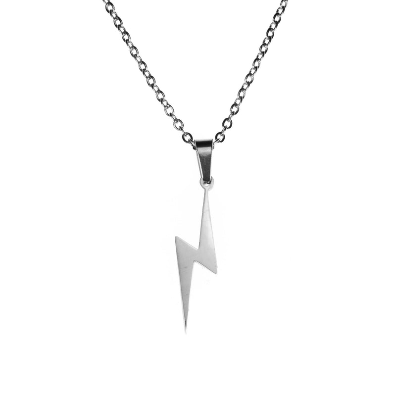 Beautiful Unique Lightning Bolt Solid White Gold Pendant By Jewelry Lane
