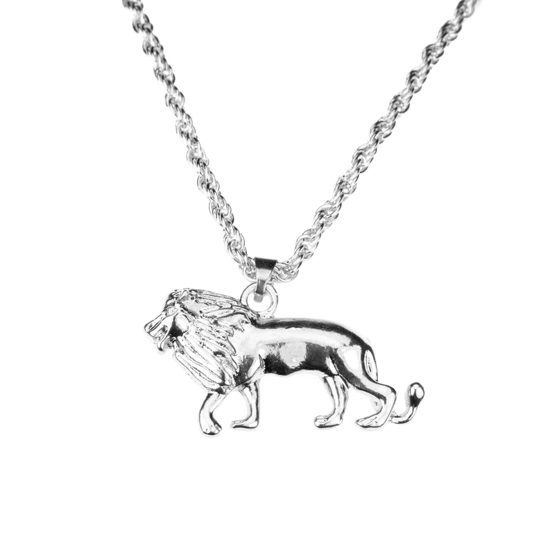 Elegant Royal Lion Solid White Gold Pendant By Jewelry Lane