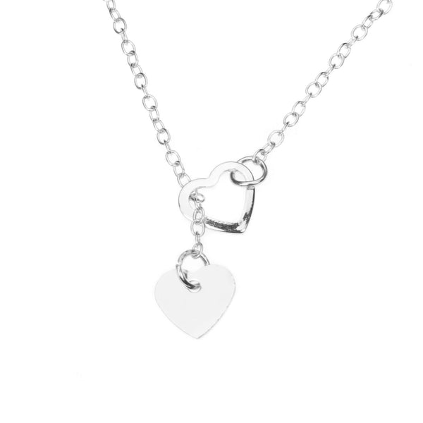 Beautiful Romantic True Love Heart Solid White Gold Necklace By Jewelry Lane