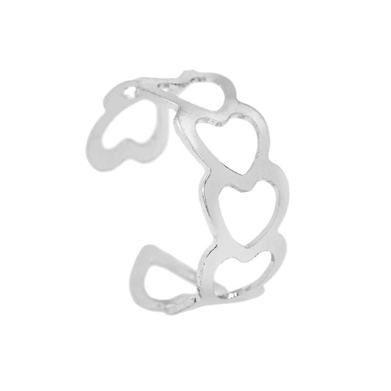 Beautiful Endless Love Multi Hearts Solid White Gold Ring By Jewelry Lane