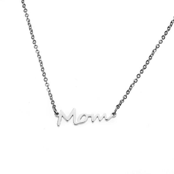 Beautiful Perfectly Crafted Mom Solid White Gold Necklace By Jewelry Lane