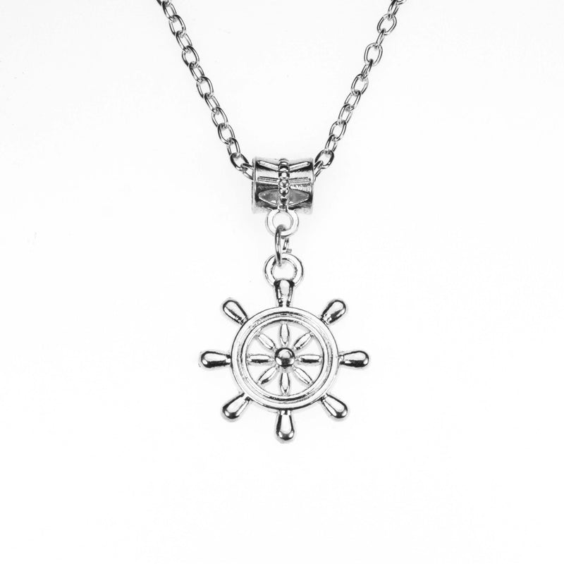 Beautiful Vintage Nautical Style Solid White Gold Pendant By Jewelry LAne