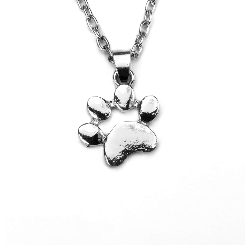 Charming Unique Pet Paw Solid White Gold Pendant By Jewelry Lane