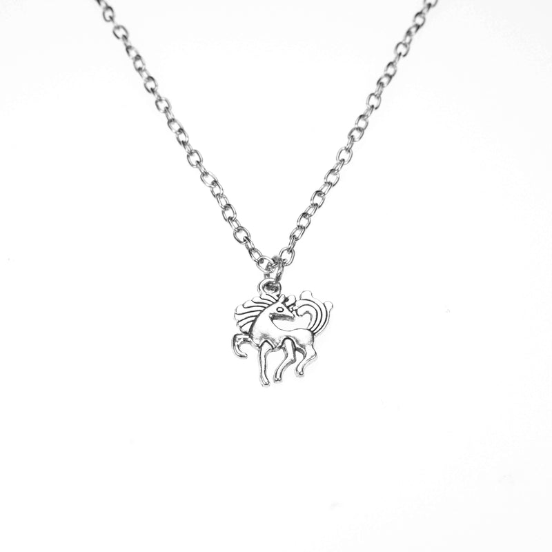 Beautiful Charming Pony Horse Solid White Gold Pendant By Jewelry Lane