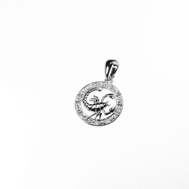 Beautiful Zodiac Scorpio Solid White Gold Pendant By Jewelry Lane