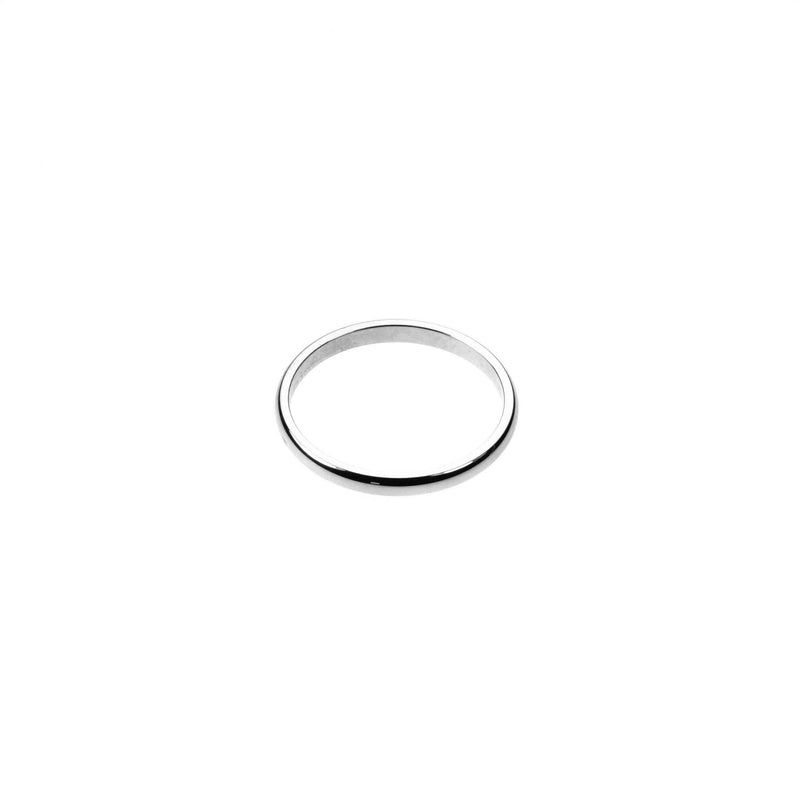Beautiful Simple Evergreen Solid White Gold Ring By Jewelry Lane