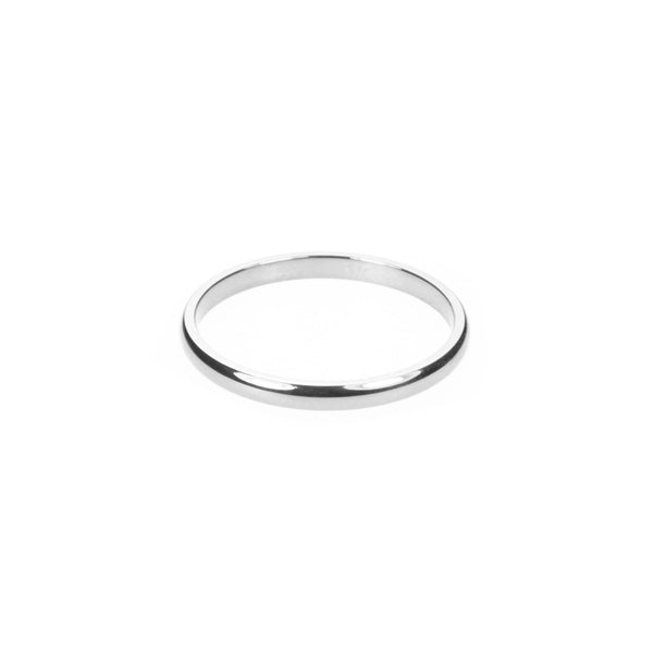 Simple White Gold Band By Jewelry Lane