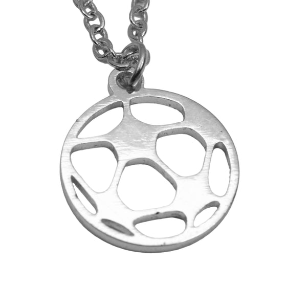 Unique Beautiful Sporty Soccer Ball Design Solid White Gold Pendant By Jewelry Lane