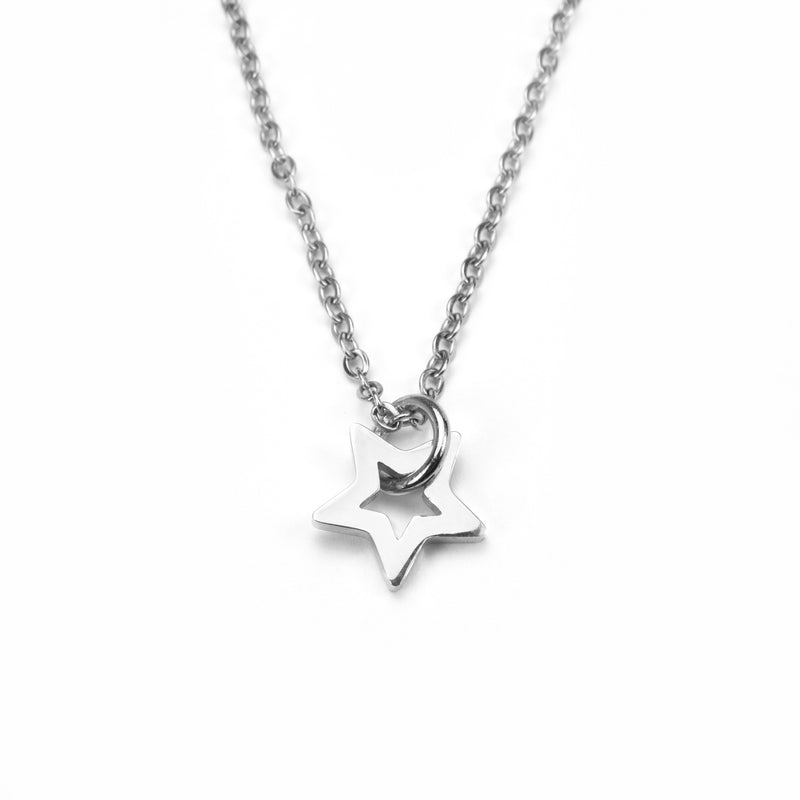 Beautiful Charm Star Design Solid White Gold Pendant By Jewelry Lane