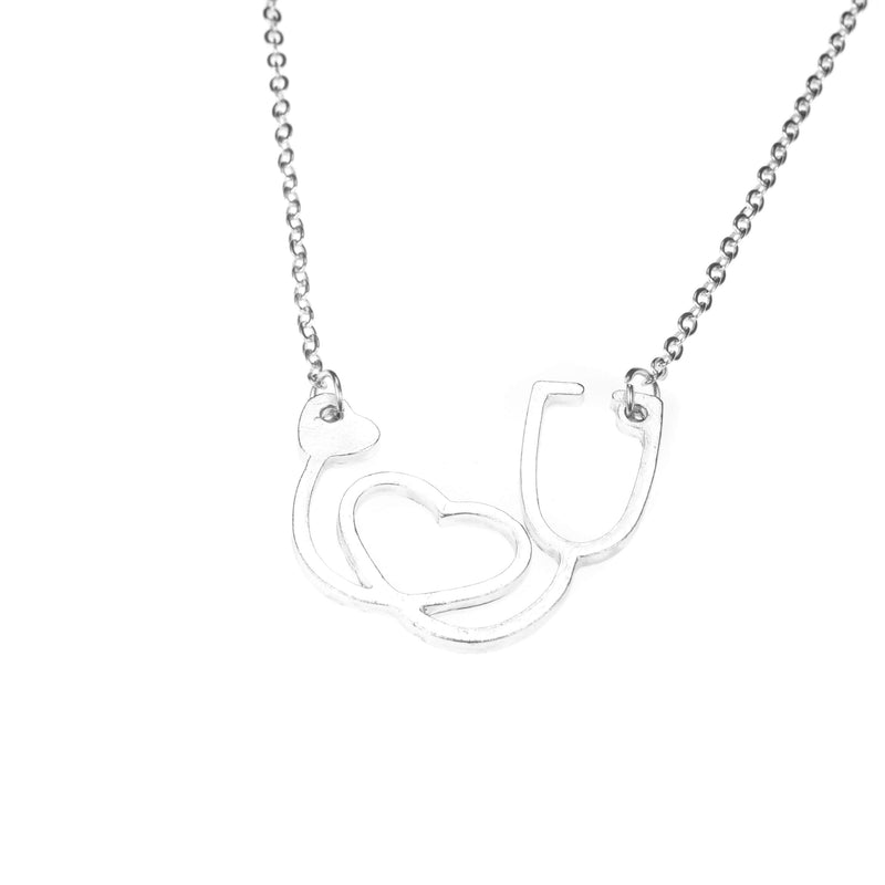 Beautiful Wine Lover Solid White Gold Necklace By Jewelry Lane