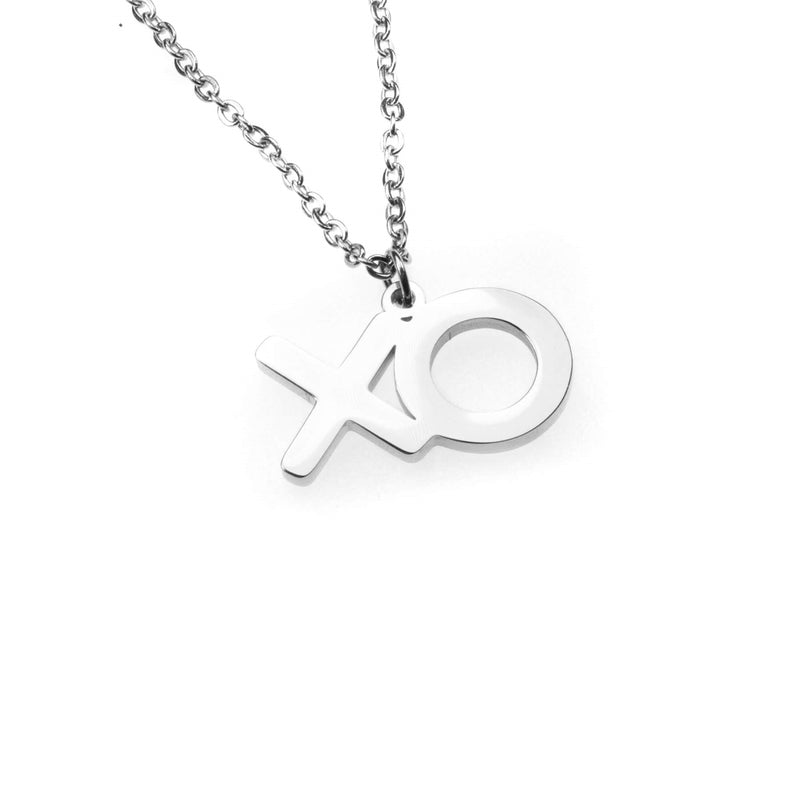 Beautiful XO Hugs And Kisses Solid White Gold Pendant By Jewelry Lane