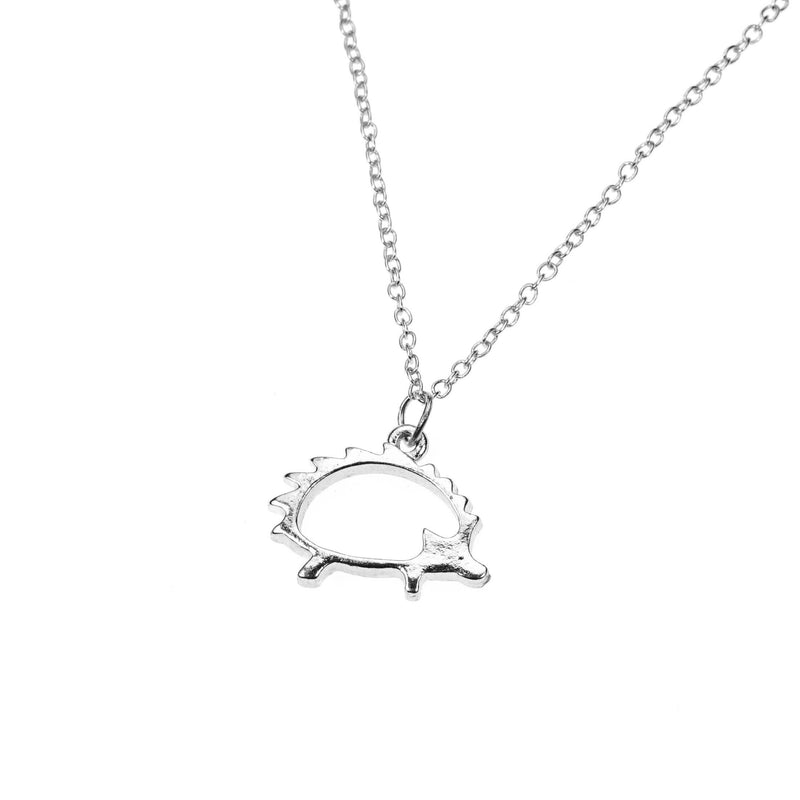 Beautiful Classic Porcupine Design Solid White Gold Pendant By Jewelry Lane