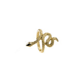 Charming Unique Snake Design Solid Gold Ring By Jewelry Lane