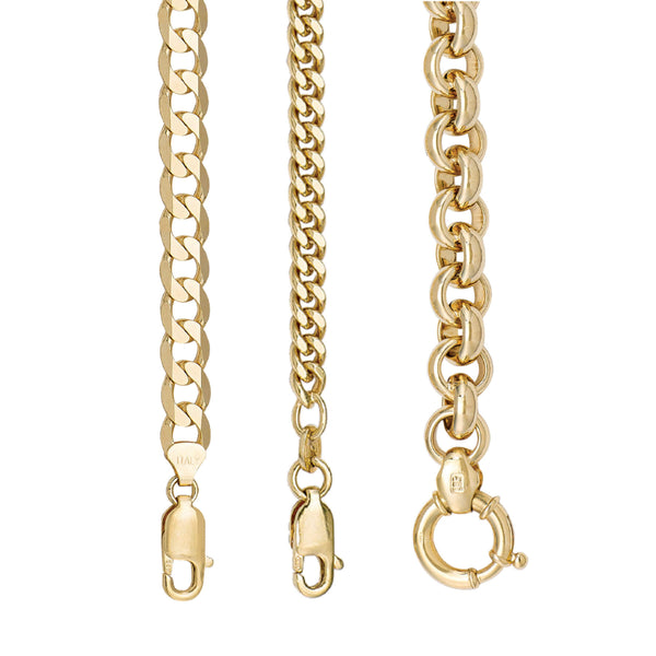 Thick Yellow gold Chains by Jewelry Lane