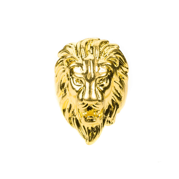 Elegant Royal Lion Face Design Solid Gold Ring By Jewelry Lane