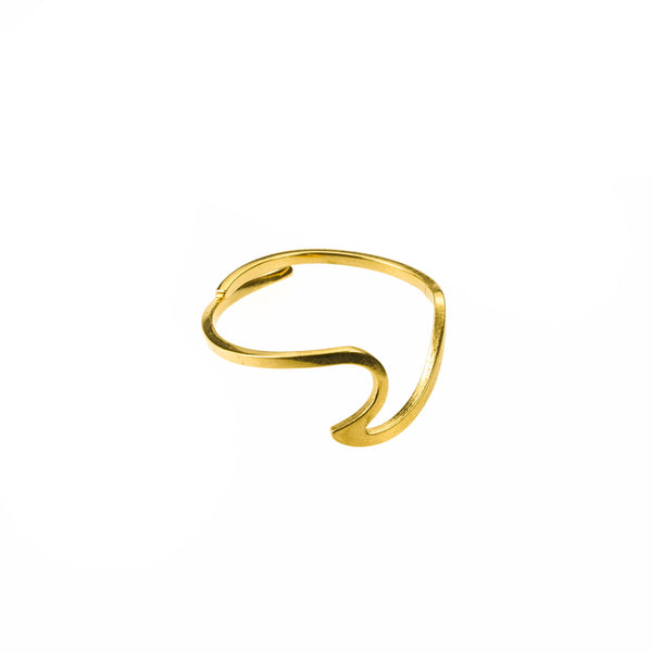 Simple Unique Adjustable Polished Solid Gold Ring By Jewelry Lane