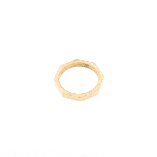 Beautiful Unique Modern Bolt Design Solid Gold Ring By Jewelry Lane
