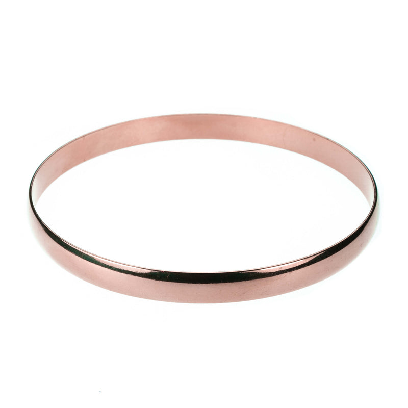 Simple Sleek Timeless Plain Solid Rose Gold Bangle By Jewelry Lane
