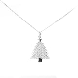 Beautiful White Gold Christmas Tree Pendant from Jewelry Lane