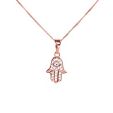 Rose Gold Hamsa Pendant by Jewelry Lane