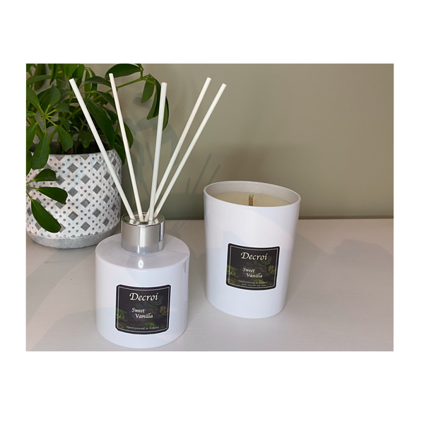 Sweet Vanilla Candle and Diffuser Duo Gift Set