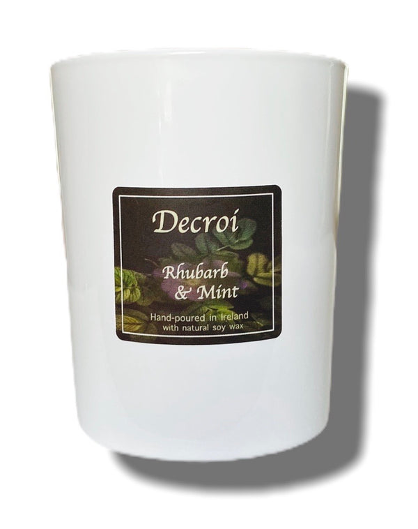 Natural soy wax candle: Rhubarb & Mint - Decroí