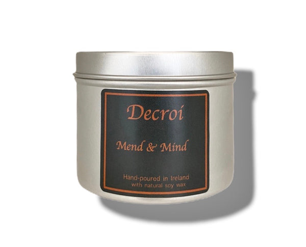 Natural Soy Candle Votive: Mend & Mind candle - Decroí