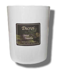 Natural Soy Candle: Sweet Vanilla - Decroí