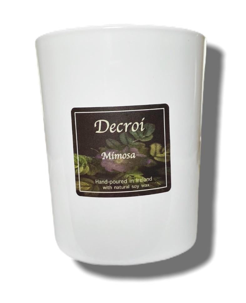 Natural Soy Candle: Mimosa - Decroí