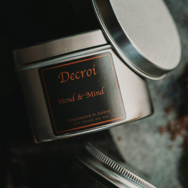 Natural Soy Candle Votive: Mend & Mind candle
