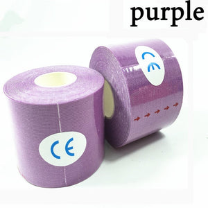 Muscle Bandage11 color Tape 5cm*5m Elastic Adhesive Strain Injury muscle Sticker Sport Kinesiology Tape Roll Cotton