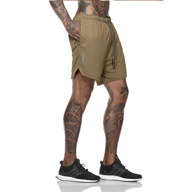 Shorts Knee Length Breathable Shorts Mesh Sportswear - betterlife24