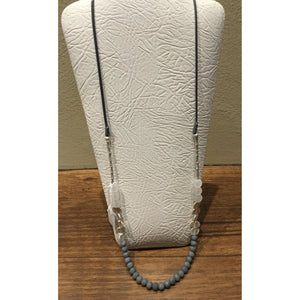 Blue & Grey Bead Necklace