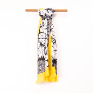 Yellow and Black Scarf