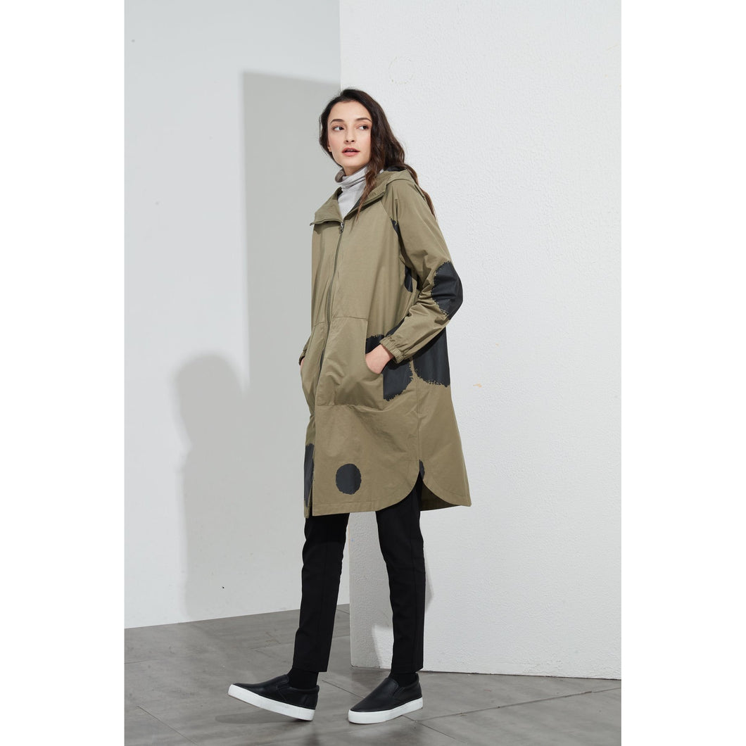 Khaki Big Spot Over Coat