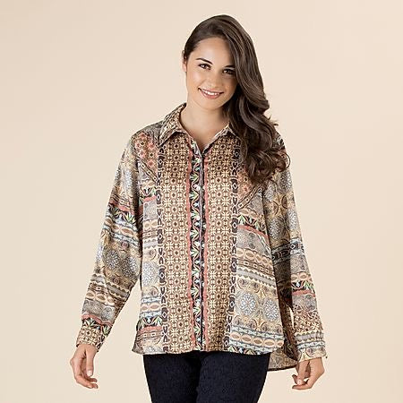 Sunset print shirt