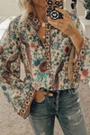 Peacock Printed Loose Shirt(5 Colors) - BestLittleThing