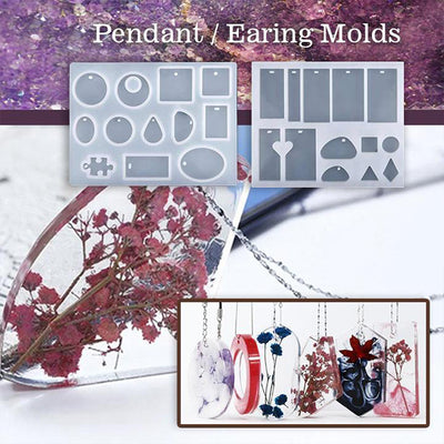 [Big Sale: 50%-62% OFF]DIY Crystal Glue Jewelry Mold 83 Pcs Set - goodwearing
