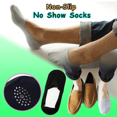 【60% OFF】Anti-slip Silicone No Show Socks - goodwearing