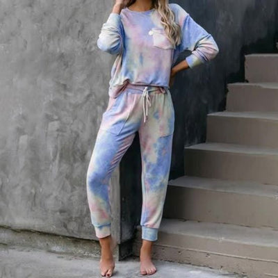 [Limited Stock, 50% OFF] Tie Dye Pocketed Top & Joggers - goodwearing